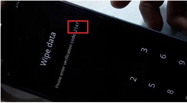 Realme C17 wipe data verification code