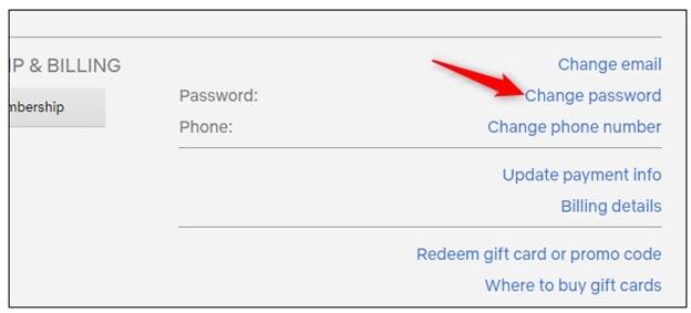 change password netflix account to remove from Netflix account