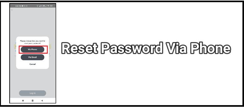 reset snapchat password using phone