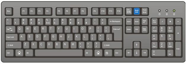 scroll lock keyboard option