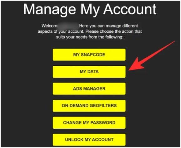 snapchat manage my account