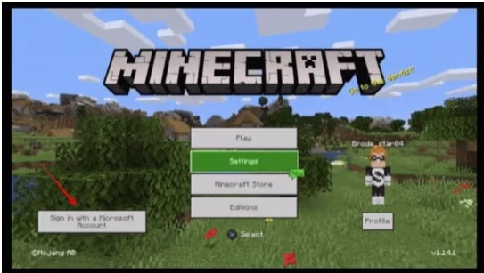 Microsoft Sign in Bug in Minecraft
