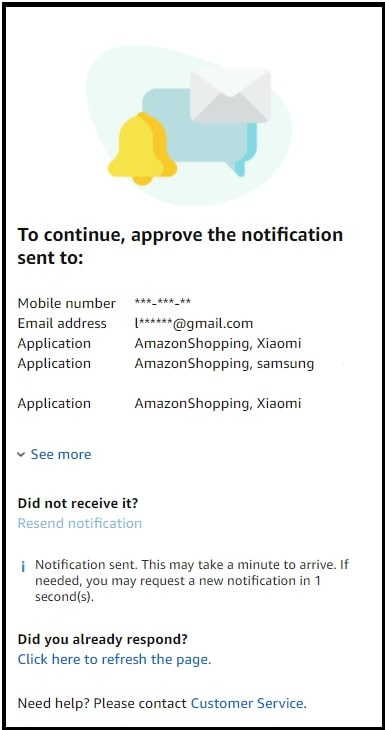 amazon email changing approve the notification