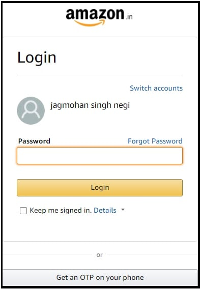 amazon new mail id
