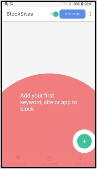 block sites in mobile chrome browser