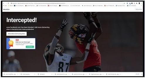 blocked website status