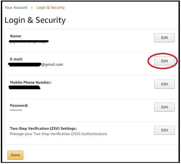 change old email in amazon account
