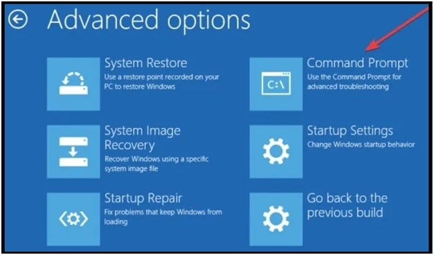 fix bad system config info windows 10 choose an advanced options command prompt