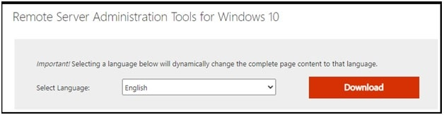 download Remote Server Administrator Tools For Windows 10 and 8