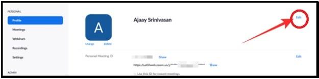 edit profile zoom desktop client app
