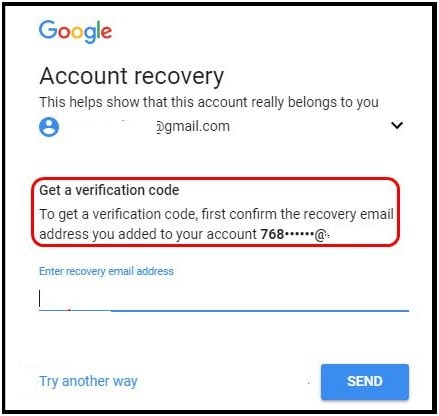 gmail account recovery reset password online