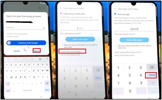 remove Samsung frp lock