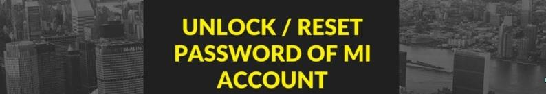reset mi account password