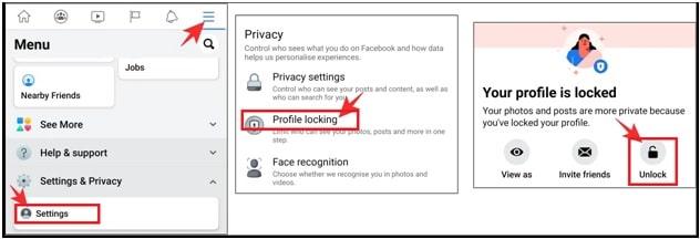 turn off FB Profile lock