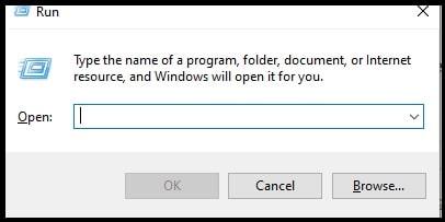 windows 10 run dialog box