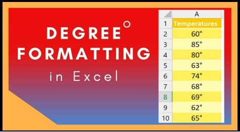 Add Degree Symbol In Excel Sheet