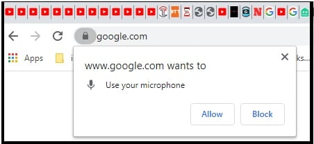 allow to use microphone