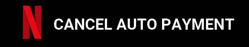 cancel auto payment netflix account