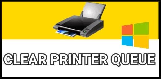 clear printer queue windows 10