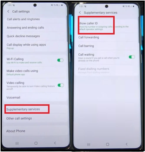hide phone number in android phone