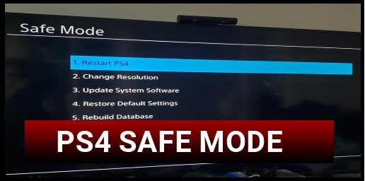 Boot PS4 In Safe Mode