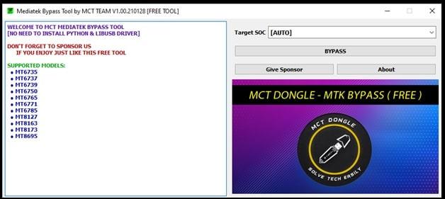 mediatek bypass tool MCT