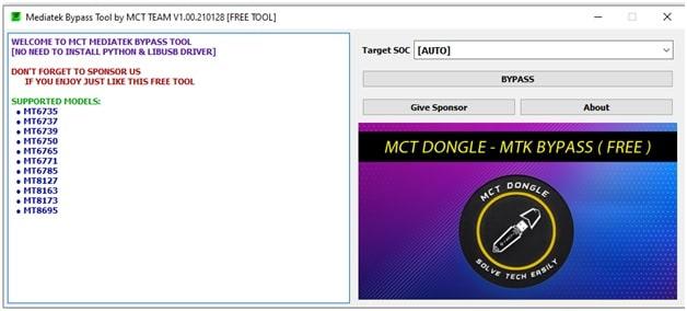 mediatek bypass tool MCT tool
