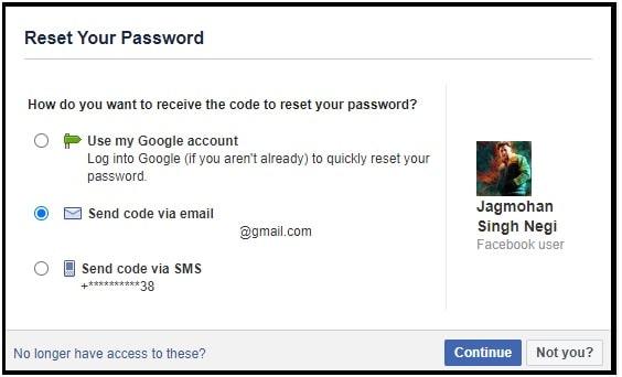 messenger reset code