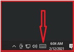 on screen keyboard launch icon