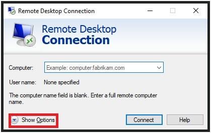 remote desktop app more options