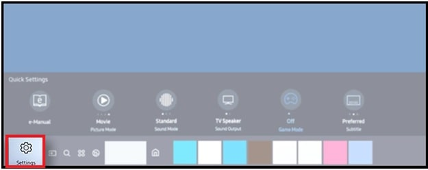 Samsung smart tv settings