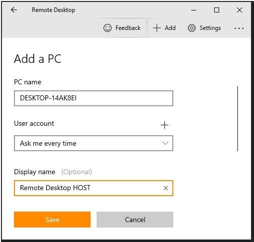 setup remote desktop app