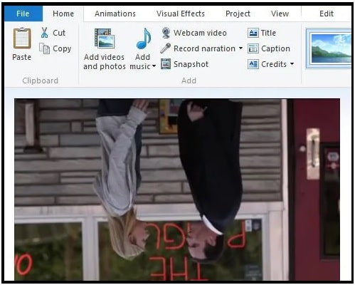 Rotate Video With Windows Movie Maker Without Audio Problem