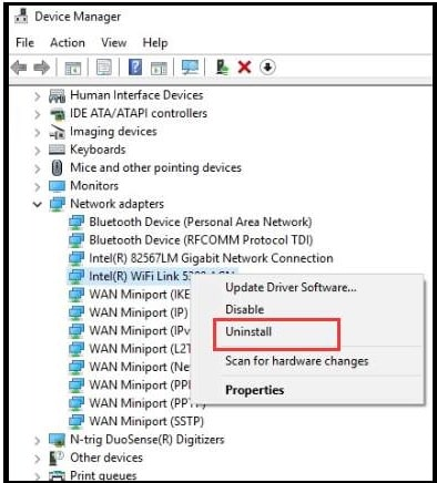 Uninstall And Reinstall Wireless Network Adapter Driver
