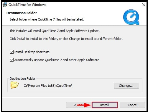 install quicktime video player on windows 10 pc