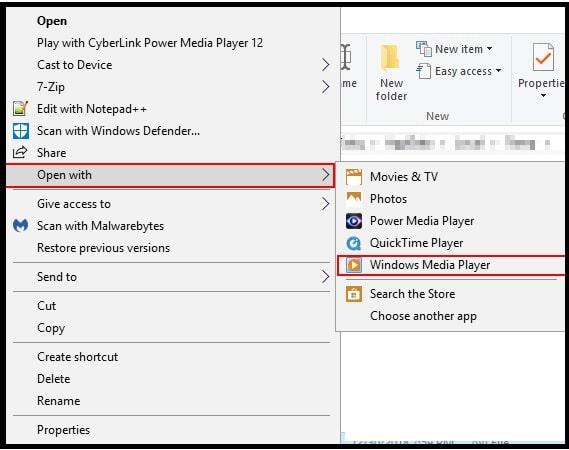 play mov using windows media player
