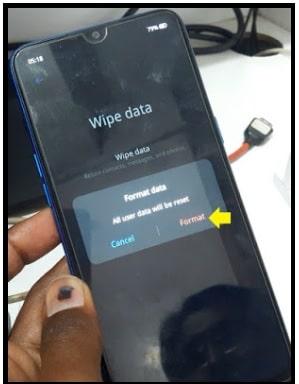realme c11 wipe data