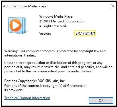 windows media player latest version for windows 10