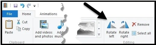 windows media player rotate function