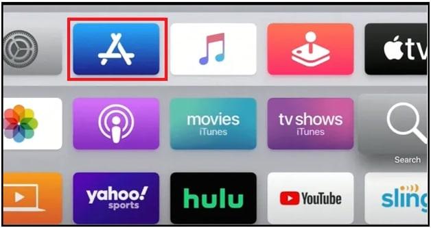 App store on Apple TV