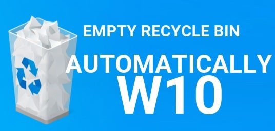 Automatically Empty The Recycle Bin W10