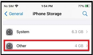 Clear Other Storage On iPhone Device
