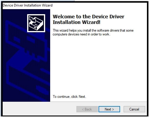 Device Driver Installation Wizard