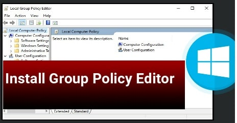 Install Group Policy Editor On Windows 10 Home Edition