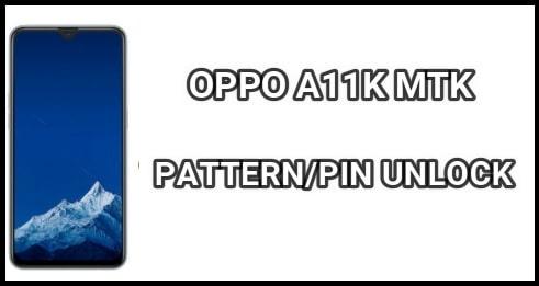 OPPO A11K Pattern Unlock