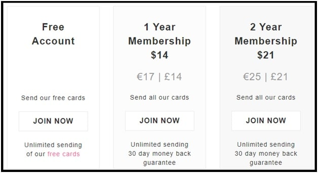 Ojolie ecards pricing