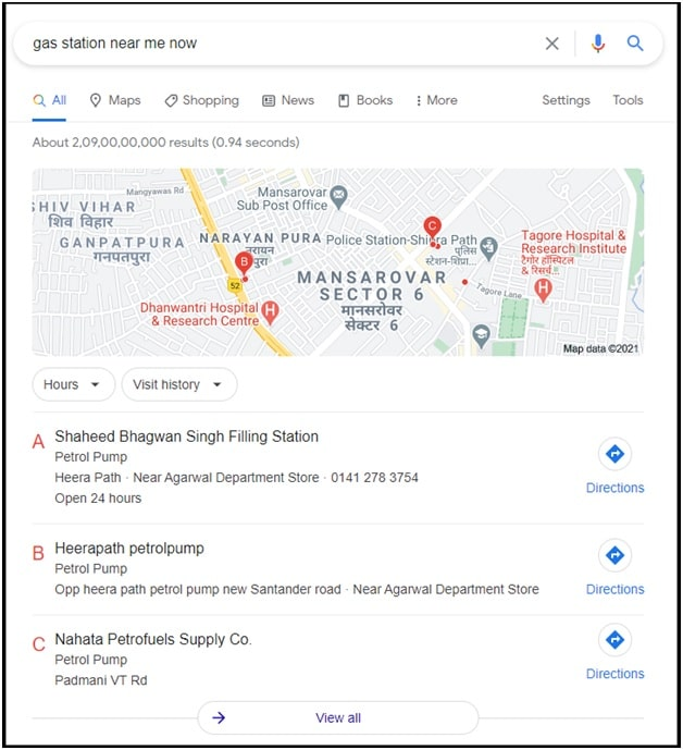 Search For Nearest Gas Station To My location on pc