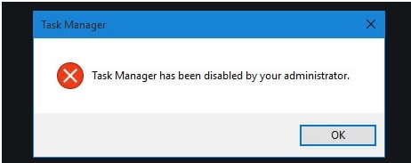Task Manager has been disabled by your administrator windows 10 pc
