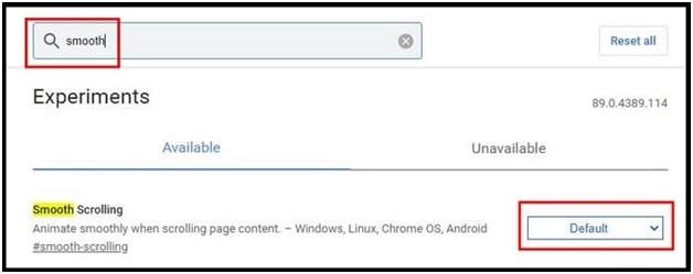 Turn Off Smooth Scrolling In Chrome Browser