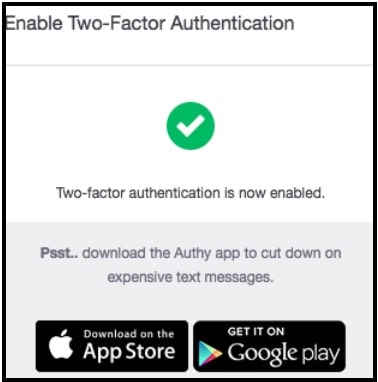 Two step authentication is now enabled on twitch